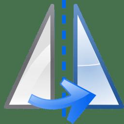 Actions object flip horizontal icon