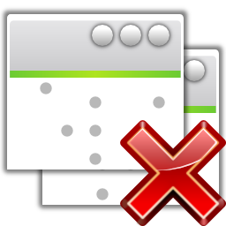 Actions project development close all icon