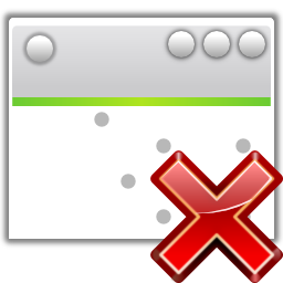 Actions project development close icon