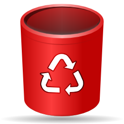 Actions trash empty icon