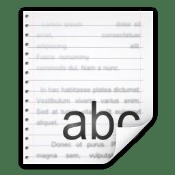 Mimetypes application rtf icon