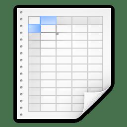 Mimetypes application x quattropro icon