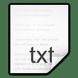 Mimetypes text plain icon