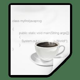 Mimetypes text x java icon