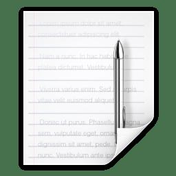 Mimetypes text x katefilelist icon