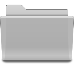 Places folder grey icon