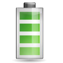 Status battery 100 icon