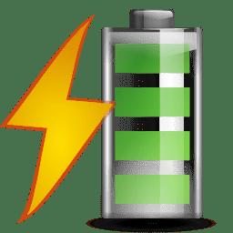 Status battery charging icon