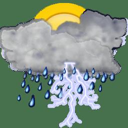 Status weather storm day icon