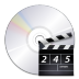Devices-media-optical-video icon