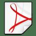 Mimetypes-application-pdf icon