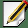 Actions-document-edit icon