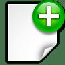 Actions-document-new icon