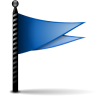 Actions-flag-blue icon