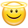 Emotes-face-angel icon