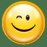 Emotes-face-wink icon