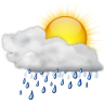 Status-weather-showers-day icon