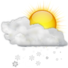 Status-weather-snow-scattered-day icon