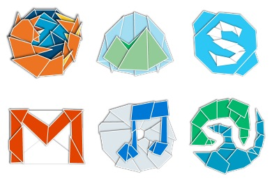 Web 2.0rigami Icons