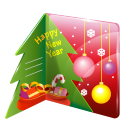 Christmas card icon