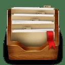 Wood folder icon