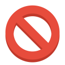 Sign ban icon