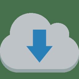 Cloud down icon