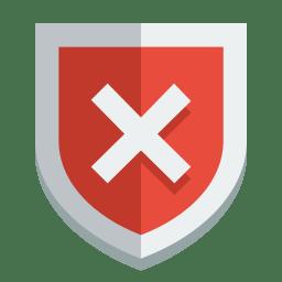 Shield error icon