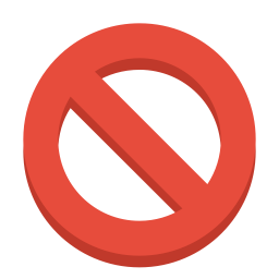 Sign ban icon