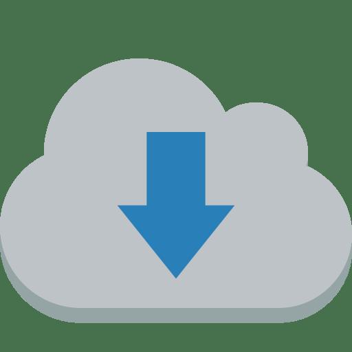 Cloud-down icon