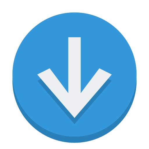 Sign-down icon