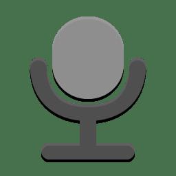 Audio input microphone icon
