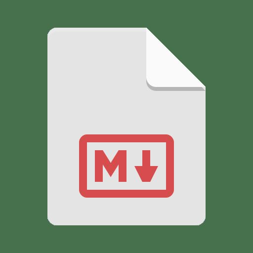 Text-x-markdown icon