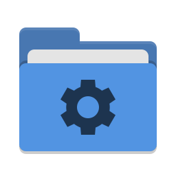 Folder blue development icon
