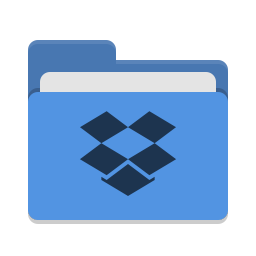 Folder blue dropbox icon