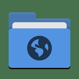 Folder Blue Network Icon Papirus Places Iconset Papirus Development Team