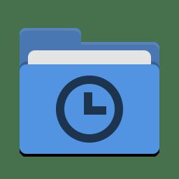 Folder blue recent icon