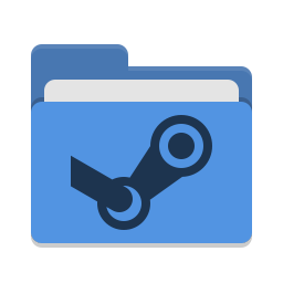 Folder blue steam icon