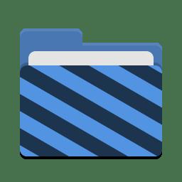 Folder blue visiting icon
