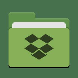 Folder green dropbox icon
