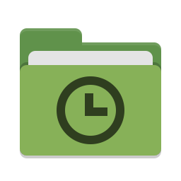 Folder green recent icon