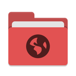 Folder red network icon