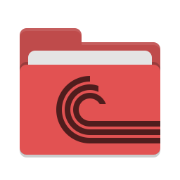 Folder red torrent icon