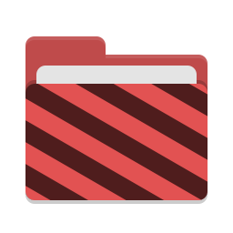 Folder red visiting icon