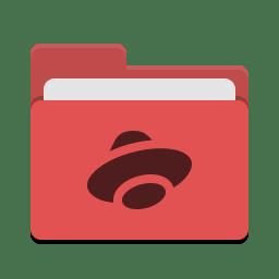 Folder red yandex disk icon