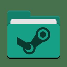 Folder teal steam icon