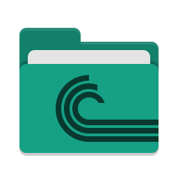 Folder teal torrent icon