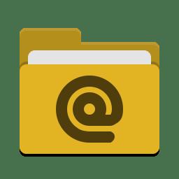 Folder yellow mail icon