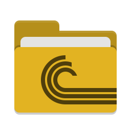 Folder yellow torrent icon