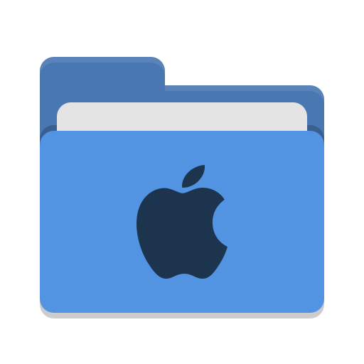 Folder-blue-apple icon